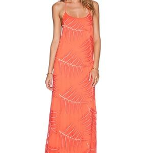 New without tags! Coral maxi dress w straps. sz 2